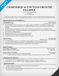 Chartered Accountant Resumes Chartered Accountant Resume Example Accountant Resume