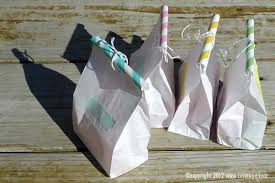 Washi tape, Paper straw, Paper bag Favors
