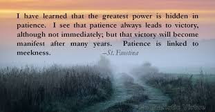 Patience Is A Virtue Quote Impressive Patience Archives Page 48 Of 48 Eucharistic Virtue