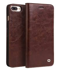 iphone 7 plus classic leather wallet case brown color