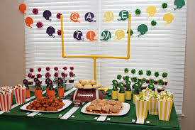 Super Bowl Table Decorations Five Ways To DIY Your Super Bowl Party Decorating Home Living 2