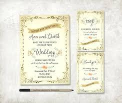 Rustic Wedding Invitation Printable Stationery Set Digital File