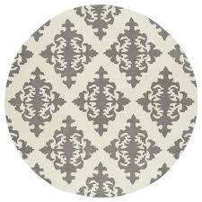 kaleen evolution grey round indoor handcrafted area rug common 10 x 10 actual