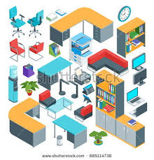 isometric office furniture vector collection. beautiful collection isometric office furniture icons set highly detailed vector illustration inside office furniture vector collection a