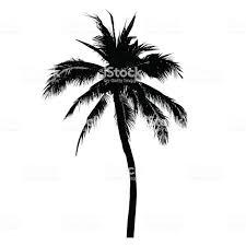 ココナッツの木ヤシの木イラストのシルエット ベクトル夏記号
