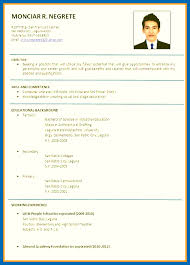 Job Application Resume Format Custom Format Of Resume For Job Application Emberskyme
