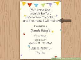 text invitation birthday party how to write a birthday invitation 14 steps with pictures