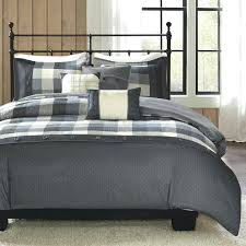 buffalo plaid duvet cover king city 6 piece set check flannel