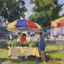 painting by ann blair brown of nashville yacht club on college blair brown paintings and beach paintings