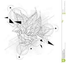 сделанная по образцу летящая птица с геометрией иллюстрация вектора
