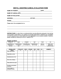 Evaluation Form Template 6 Printable Student Evaluation Form Template Fillable Samples In