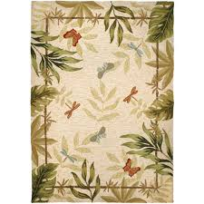 erflies and dragonflies beige green gold 8 ft x 10 ft indoor