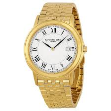raymond weil tradition white dial yellow gold pvd stainless steel raymond weil tradition white dial yellow gold pvd stainless steel men s watch 5466 p