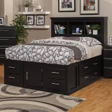 Sandberg Furniture Serenity Black Queen Captain Bed with Storage