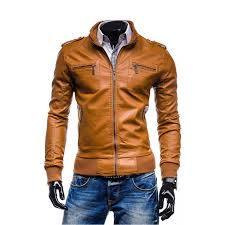 tan brown leather jacket zoom men s