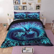 cool dragon bedding set animal duvet cover quilt cover bed pillow cases twin full queen king super king size duvet cover duvet clearance from zijinflo