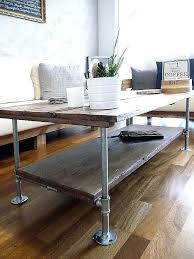 galvanized coffee table very slim console table luxury coffee table with wood and galvanized steel pipes galvanized coffee table
