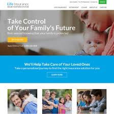 professional life insurance responsive website design life insurance example