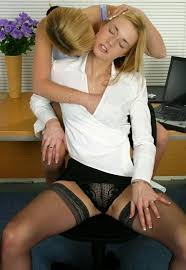 Office sex lesbian stockings videos