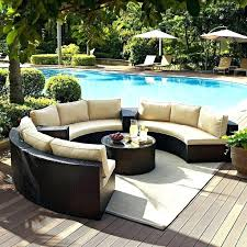 curved outdoor seating area modular