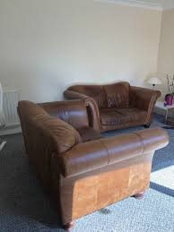 tan leather couch. 2 X Tan Leather Sofas For Sale Couch R
