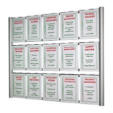 Multiple Poster Display Stands Wall ladder poster displays with hook over holders 42