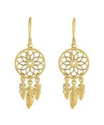 jewelryaffairs 14k yellow gold dream catcher chandelier earrings lyst view fullscreen
