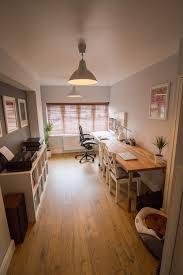 finished office makeover. After\u2026 Home Office Garage Conversion Finished Makeover M
