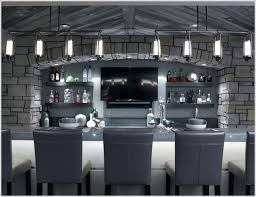 modern bar lighting. Modern Bar Lighting Linear Lights Bring A Feel To This All Gray And Gorgeous Space .