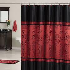 oriental shower curtain design