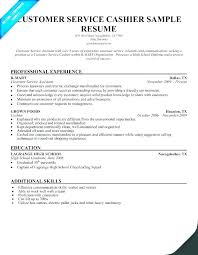 Customer Service Resumes Cool Sample Resume Of A Cashier Resume Cashier Objective Cashier On