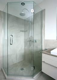 showers corner shower doors 3 8 heavy glass chrome with clear semi bath size enclosures
