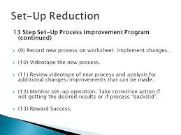 How to Effectively Implement Set-up Reduction in Any Organization ...