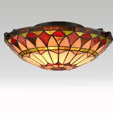 Discount Tiffany Style Lighting Vintage Tiffany Style Mission Semi Flush Ceiling Light