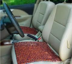 brown wooden beads wooden car seat cushion cool side massage pad refreshing summer heat mat supplies four seasons general child car seats combi car seat