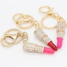 Hot Sales Metal Insert Drill Lip Gloss <b>Lipstick</b> Key Buckle Fashion ...