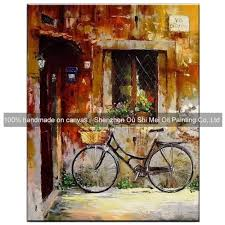 Small Picture Home Decor Paintings Handmade Decorative Oil Painting Window