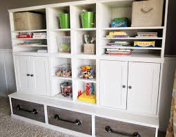 ... Innovative Decoration Toy Storage Cabinets Furniture Divine Play Room  Design Ideas Using White Wood ...