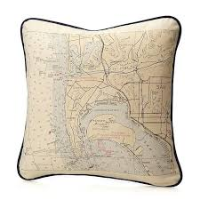 Nautical Chart Pillows Custom Map Pillow Personalized Map Cushion Uncommongoods