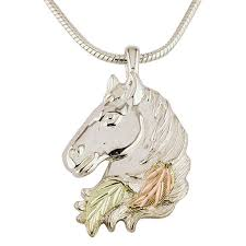 upc 784715394875 mt rushmore black hills gold sterling silver horse head pendant necklace