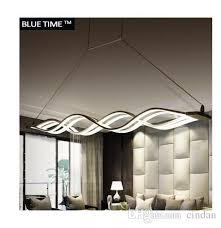 wave design chandelier for dinning room black white chandelier lights modern chandeliers led lighting ac 85 260v 100cm 120cm dining room chandelier bedroom