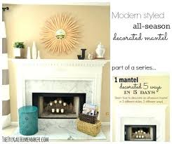 decorated mantels modern styled all season decorated mantel decorating fireplace mantels for spring