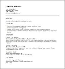 Resume Examples For Cashier Amazing Cashier Resume Sample Musiccityspiritsandcocktail
