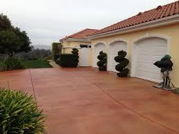 concrete decorative dye stain terranean exterior