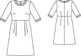 A Line Dress Pattern Classy ALine Dress 4848 48 Sewing Patterns BurdaStyle