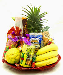 item for full view please order in advance leahi diamond head standard hawaiian fruit and hawaiian gourmet gift basket 69 50