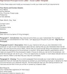 School Principal Cover Letter Principal Cover Letter Examples Cover