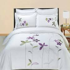 bed linen duvet covers linens n things linens and things sheets flower purple green motif