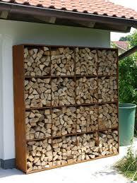 Outdoor: Wood And Cinderblocks Outdoor Firewood Racks - Firewood Storage  Ideas