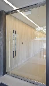 frameless glass entrance door